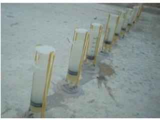 xử lý nứt bê tông bằng xy lanh bơm keo